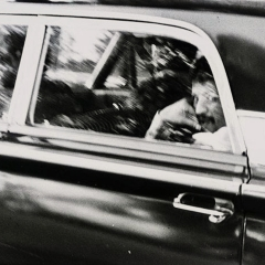 Man In Car, Gelatin Silver Print